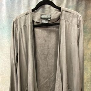Gorgeous faux suede jacket with zippered pockets